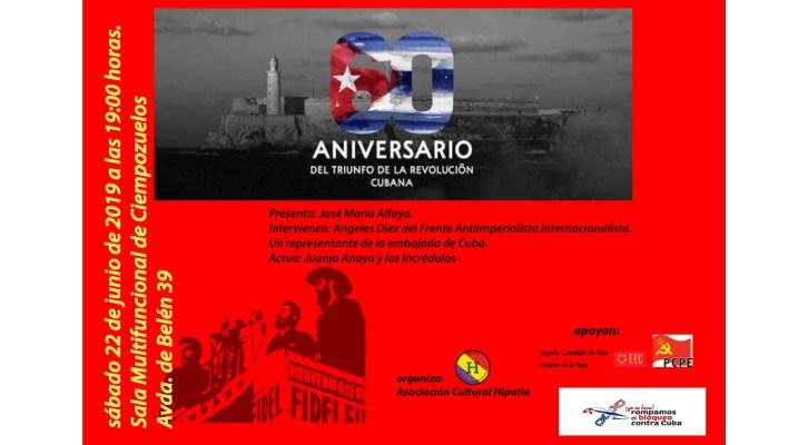 Acto en Ciempozuelos: 60 años del triunfo de la Revolución Cubana