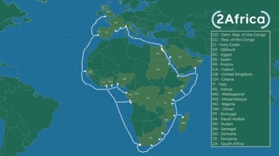 O Facebook, aproveitando o desastre da pandemia, decidiu-se a investir no laço de cabos em torno de África a fim de expandir o seu sinal de colonização mental – https://www.voltairenet.org/article210246.html