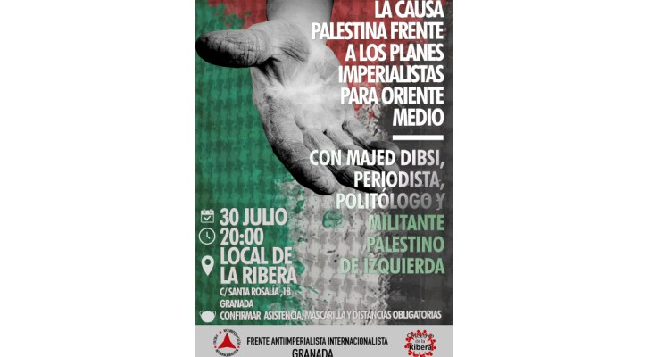 Acto en Granada en solidaridad con el Pueblo Palestino