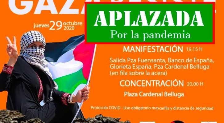 Gaza resiste. Movilización en Murcia. APLAZADA