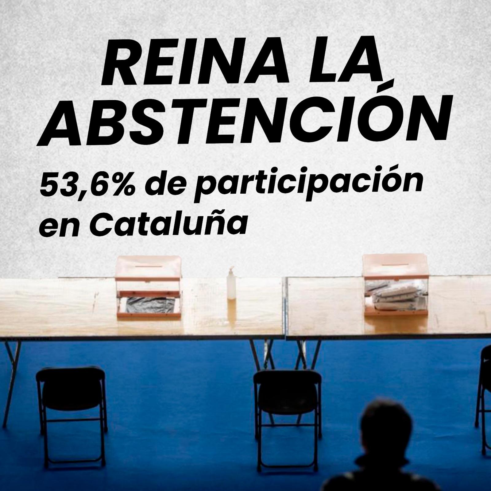 reina la abstención en cataluña