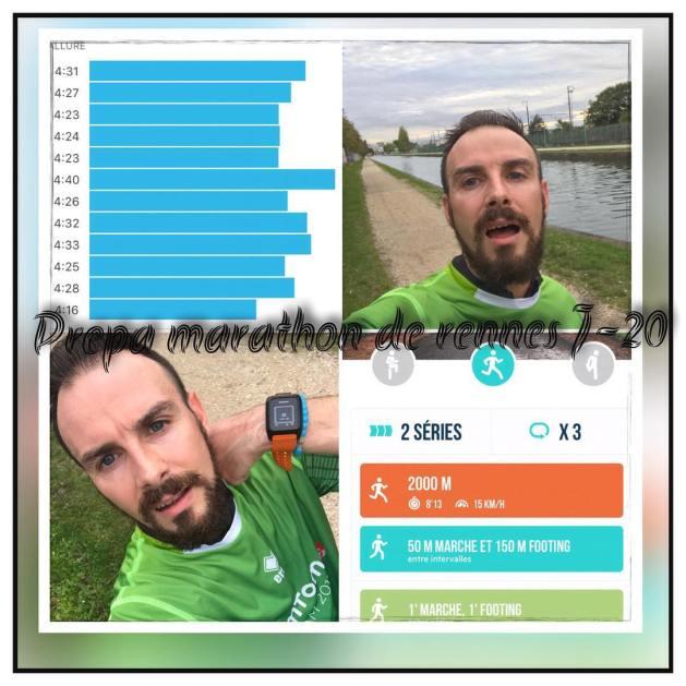 plan entraînement Marathon Vert de Rennes