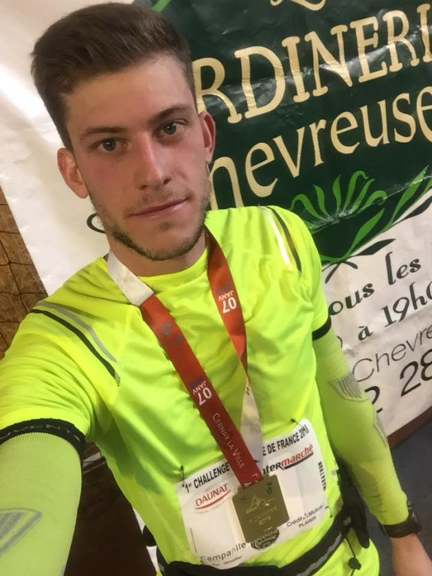 Antonin finisher de son marathon