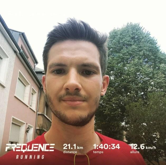 Kevin et sa performance sur semi-marathon