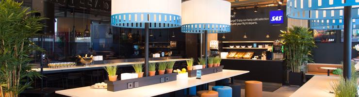 Bergen Lufthavn Flesland SAS Café lounge