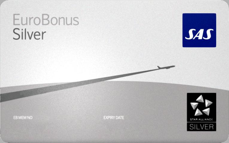 Ny fordel SAS Eurobonus Sølvmedlemmer Eurobonus Silver