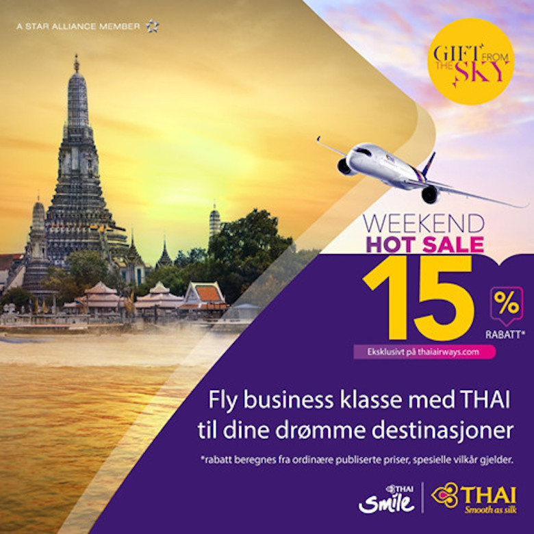 Business Class hos Thai Airways