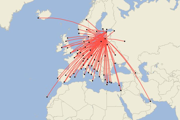 airBaltic har større rutenettverk