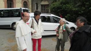 Frère Grégoire (Lille) en pleine discussion