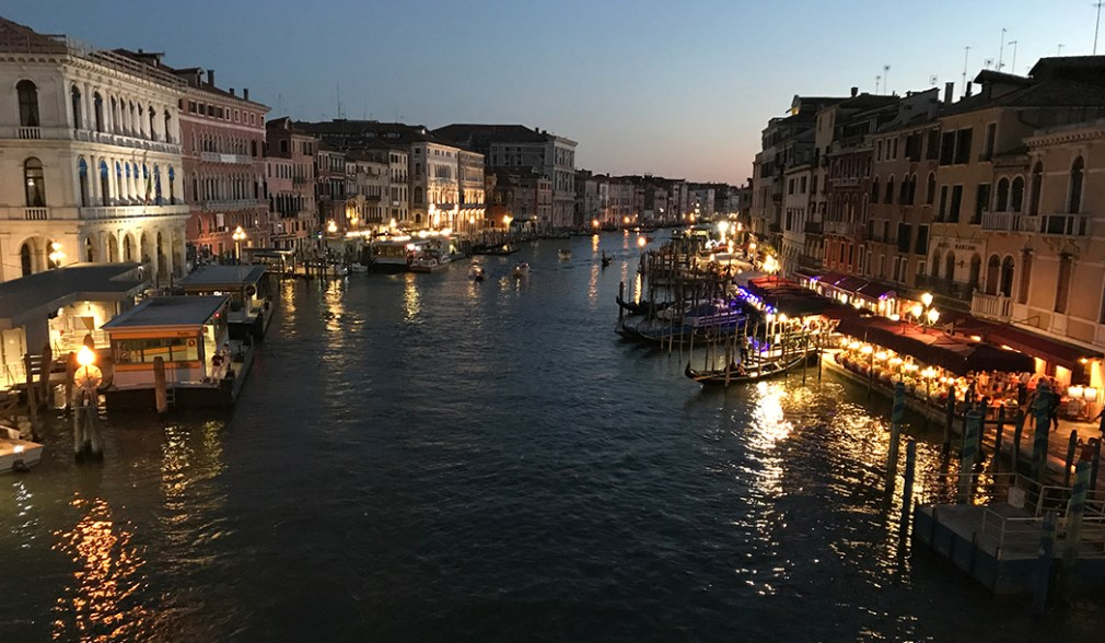 View from the Rialto, Venice, Italy