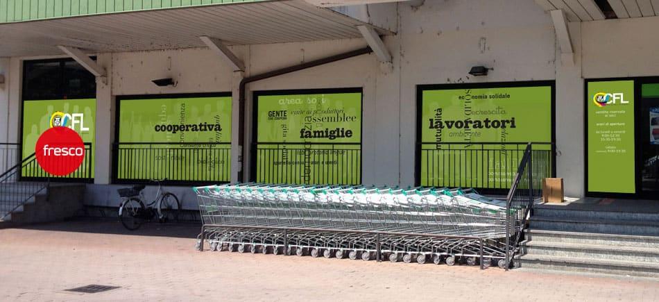 vestizione vetrina punto vendita CFL Treviglio