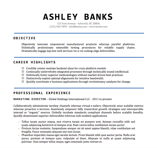 Word Doc Resume Template Links To Download One Of These Free
