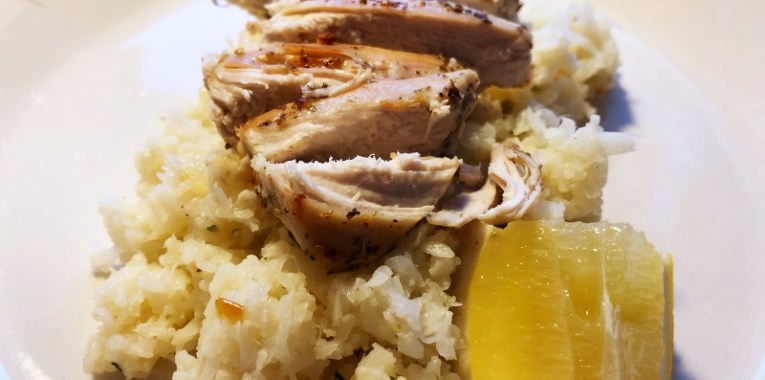 Greek Chicken And Lemon Cauliflower Rice