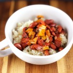 Instant Pot Vegan Red Beans with Cauliflower Rice