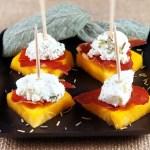Persimmon and Crispy Prosciutto Bites