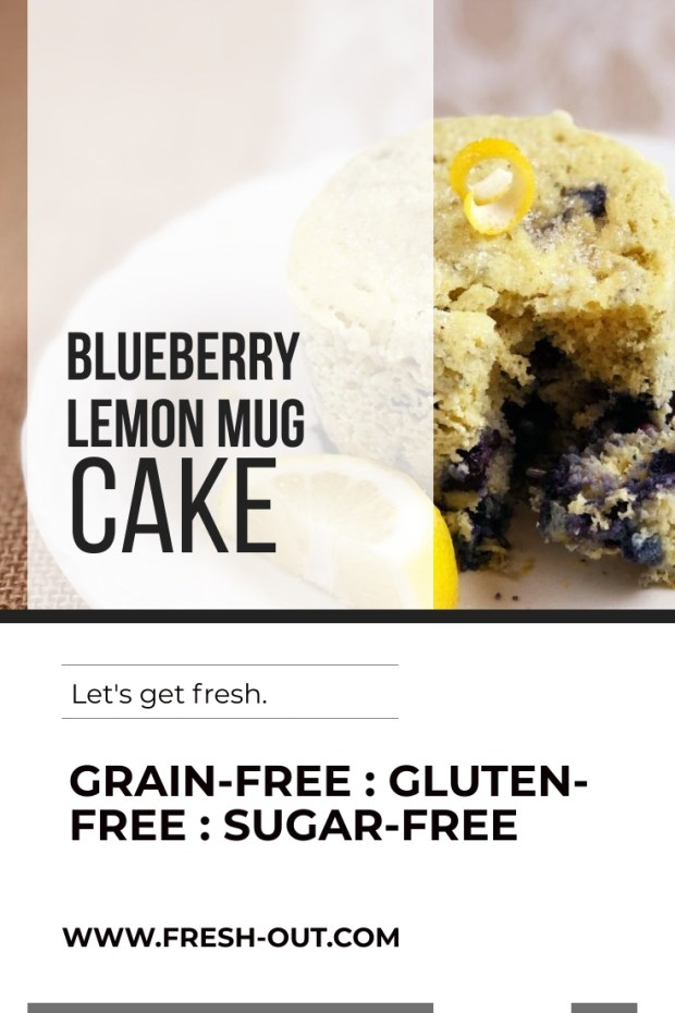 GRAIN-FREE BLUEBERRY LEMON MUG CAKE