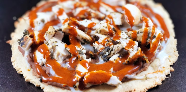 Grain-Free Chicken Enchilada Pizza