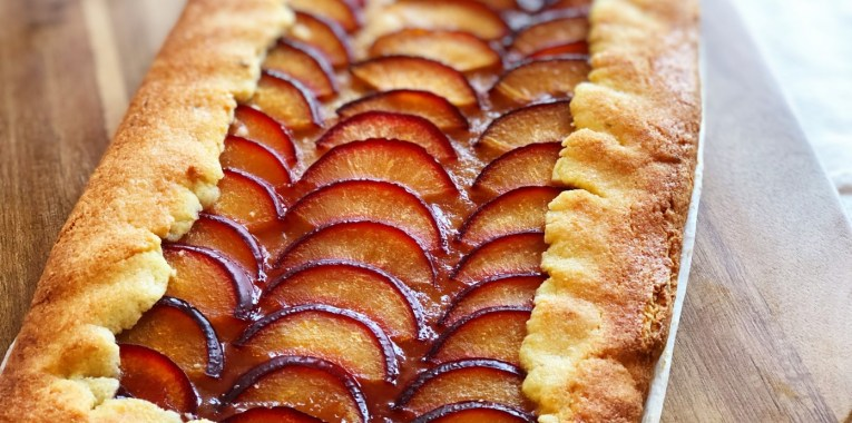 Cardamom and Thyme Plum Tart