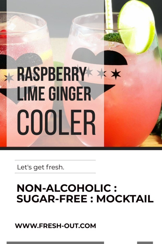 RASPBERRY LIME GINGER COOLER MOCKTAIL