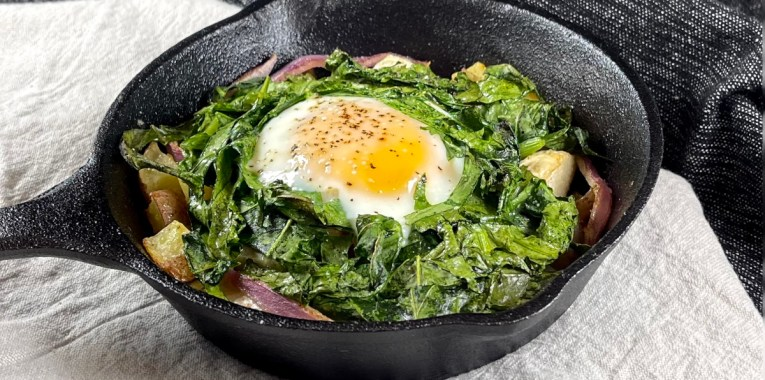 Roasted Hakurei Turnip Breakfast Skillet