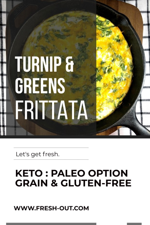 TURNIP AND GREENS FRITTATA