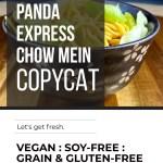 GRAIN-FREE PANDA EXPRESS CHOW MEIN COPYCAT
