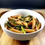 Red Lentil Penne with Lemon Garlic Asparagus