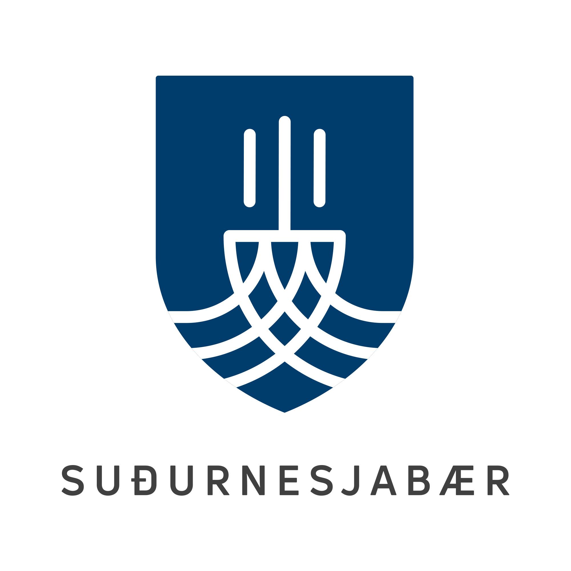 S.B – Skjoldur – Blue logo