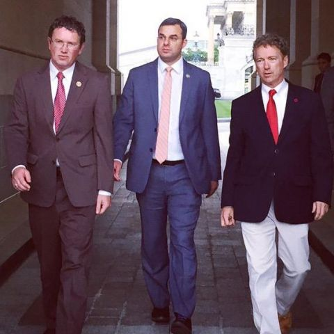 Thomas Massie Justin Amash And Rand Paul Leave The