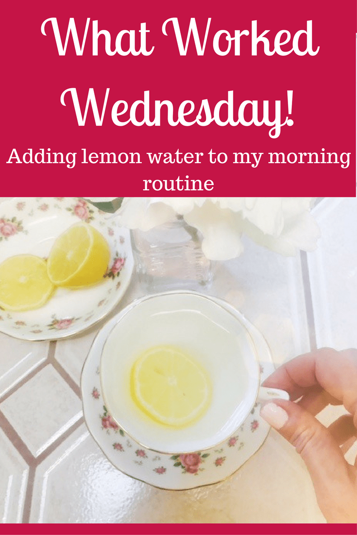 Adding warm lemon water to my morning routine