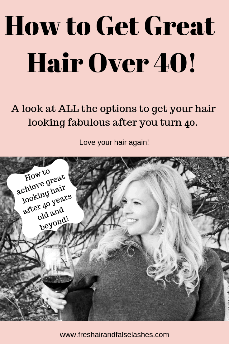 Hair over 40. All the options that will help you to love your hair again! #hairover40