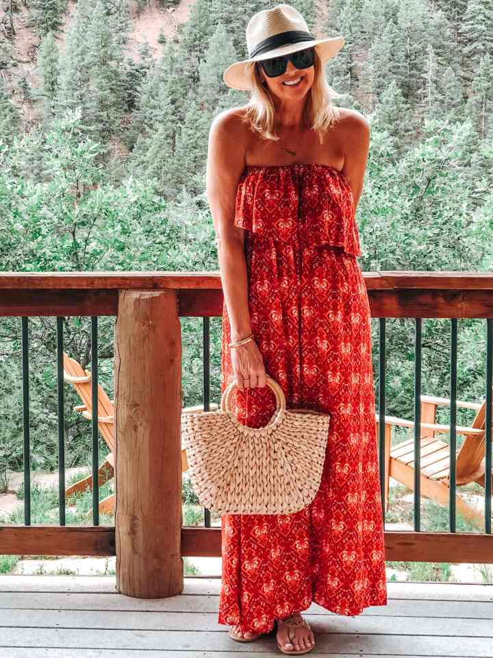 Most loved items in July. LOVE this comfy maxi dress!
