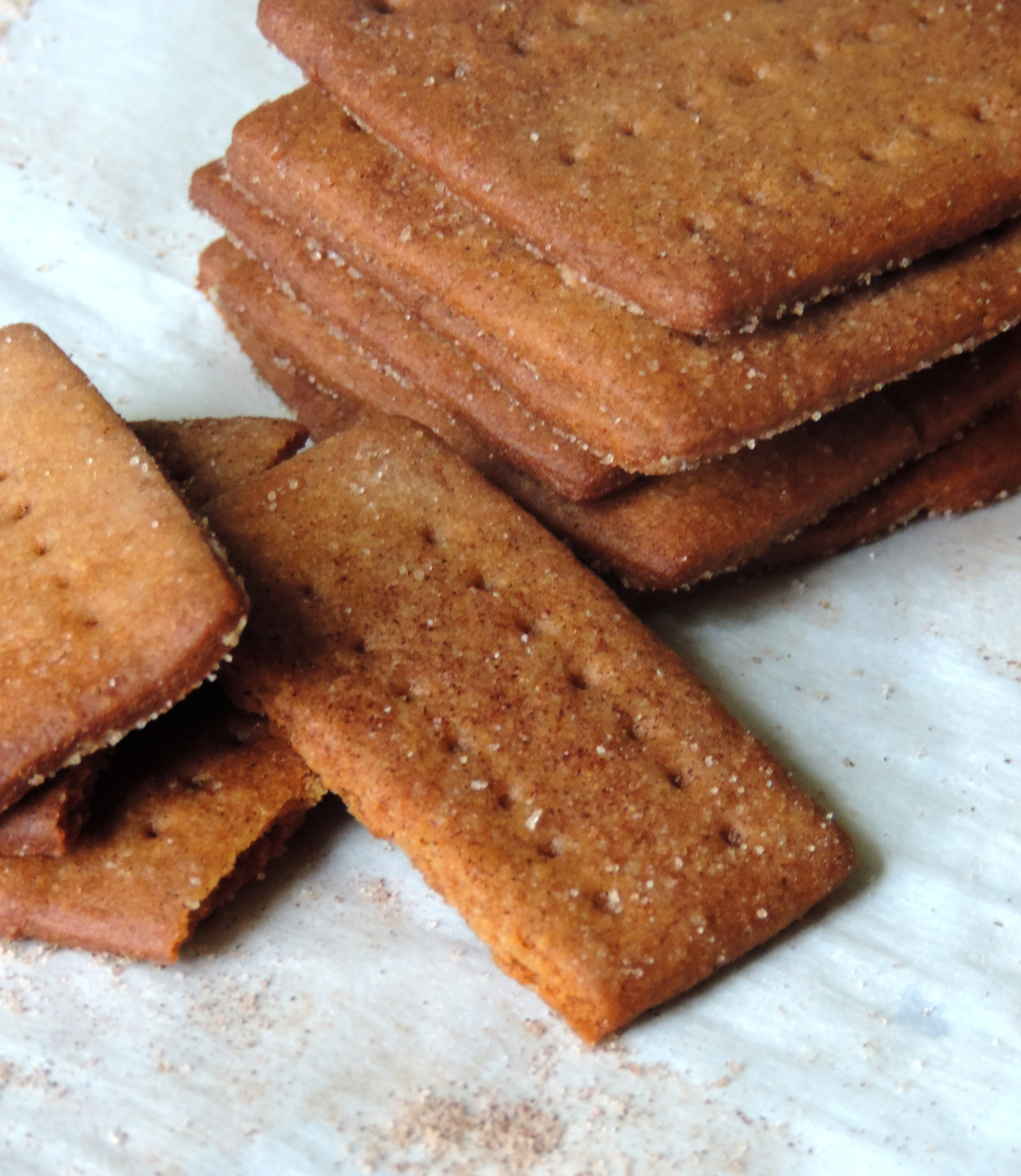 Homemade Cinnamon Graham Crackers: crunchy, buttery, and so much easier than you think they are. Better than what you find in a box!