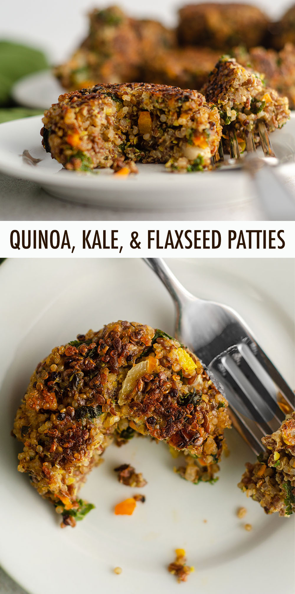 Hearty quinoa patties, jam packed with vegetables and protein. Gluten-free and vegetarian friendly!