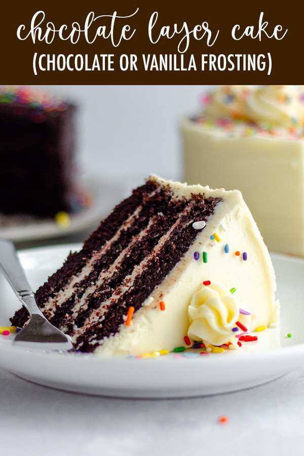 Soft, moist, and smooth chocolate layer cake with the richest chocolate flavor you'll ever taste. Super easy and only one bowl needed! Pair with my favorite chocolate buttercream, go-to vanilla buttercream, or something fancier to fit your liking.