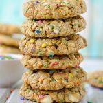 Funfetti White Chocolate Chip Oatmeal Cookies