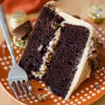 Dark Chocolate Layer Cake with Peanut Butter Frosting