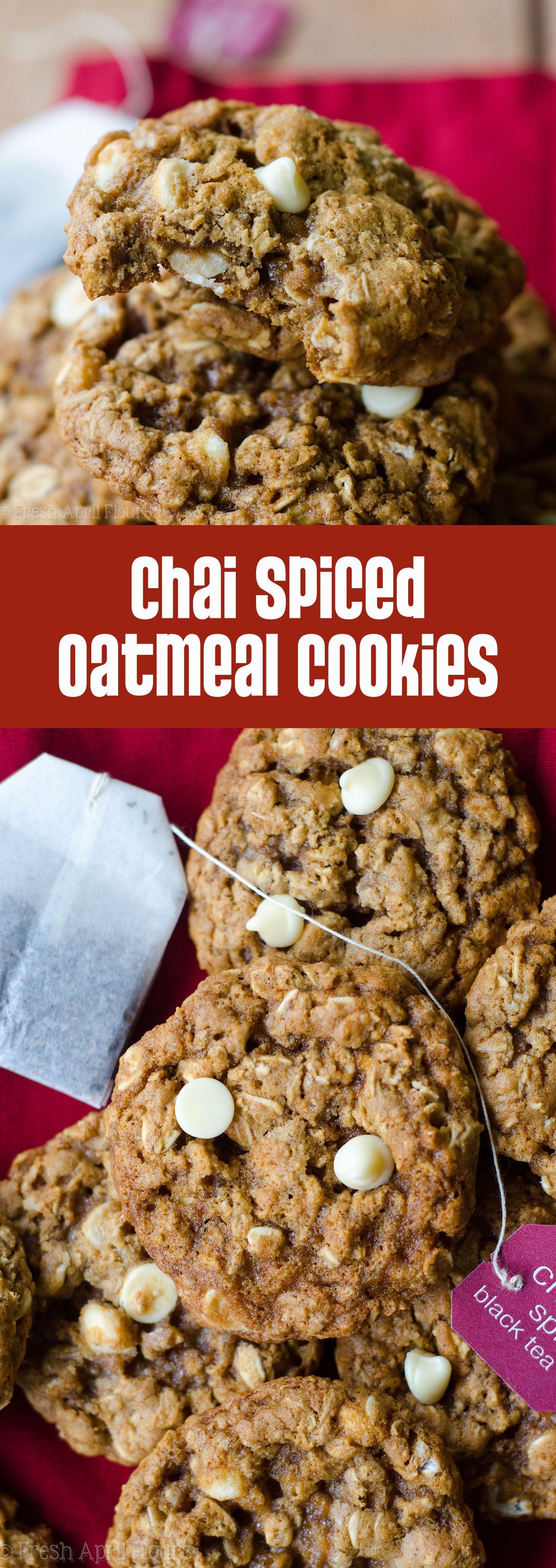 Chai Spiced Oatmeal Cookies: Classic oatmeal cookies get a spicy makeover with cinnamon, cardamom, and ginger.