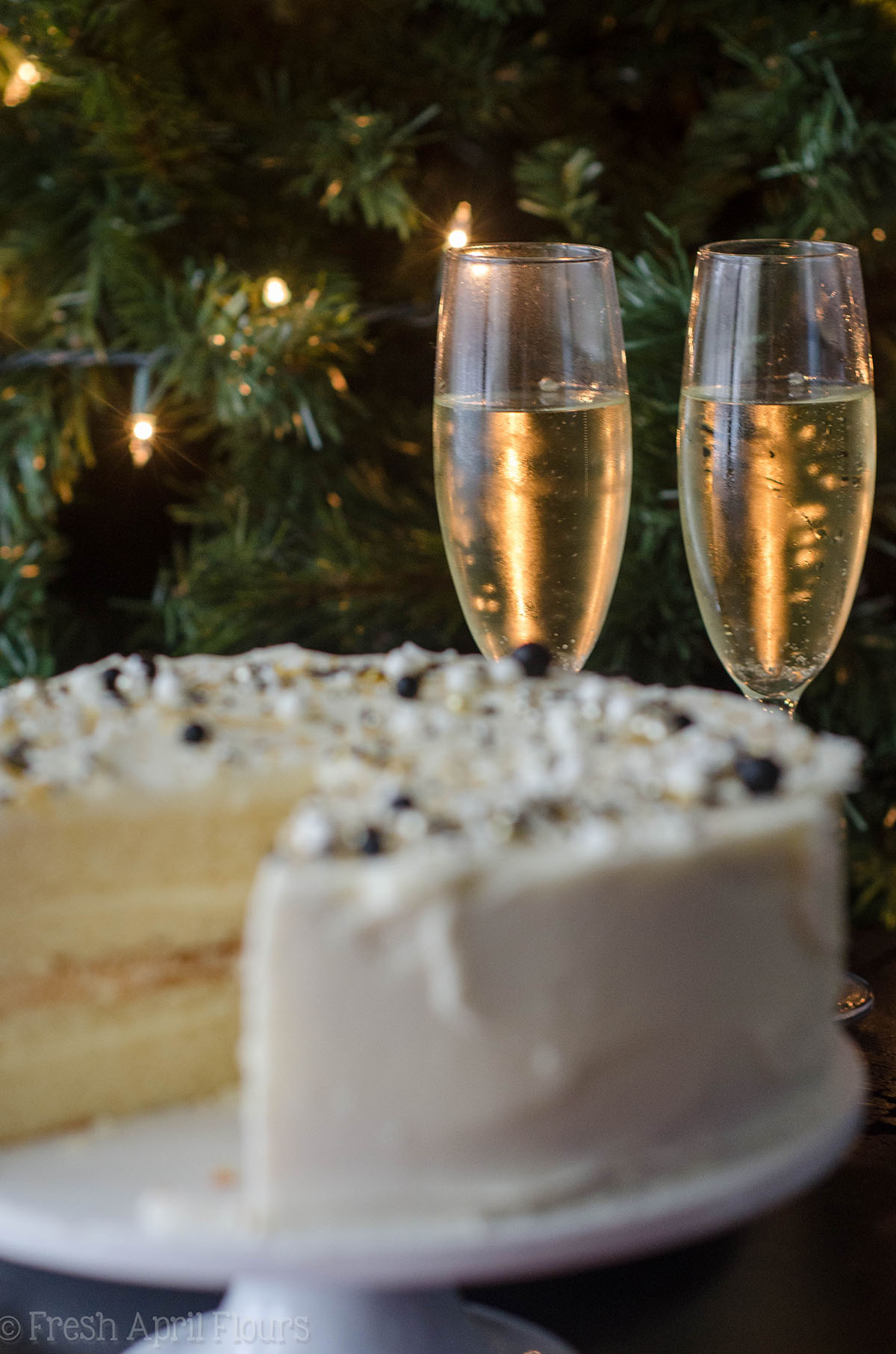 Champagne Layer Cake With Champagne Buttercream