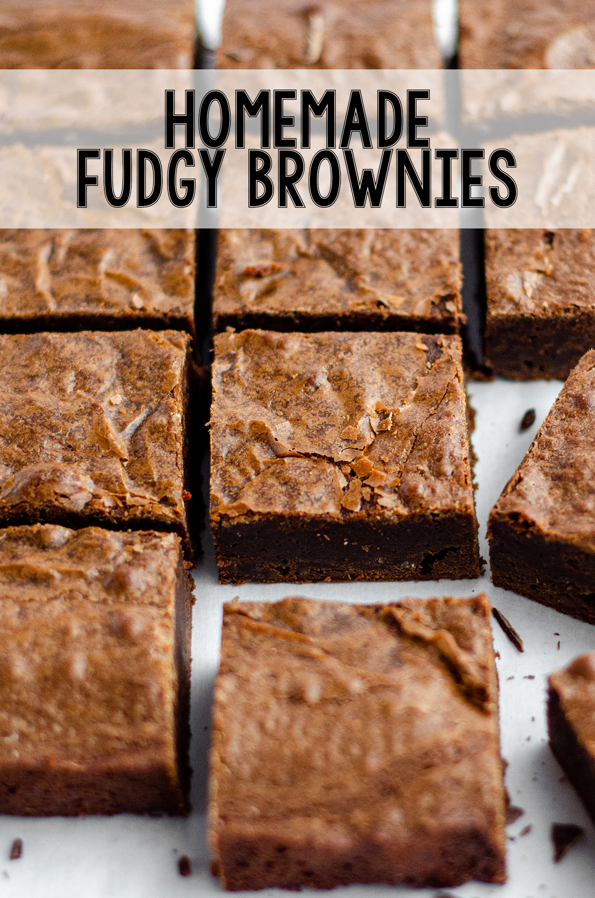 Dense and fudgy from-scratch brownies-- ditch the box forever!