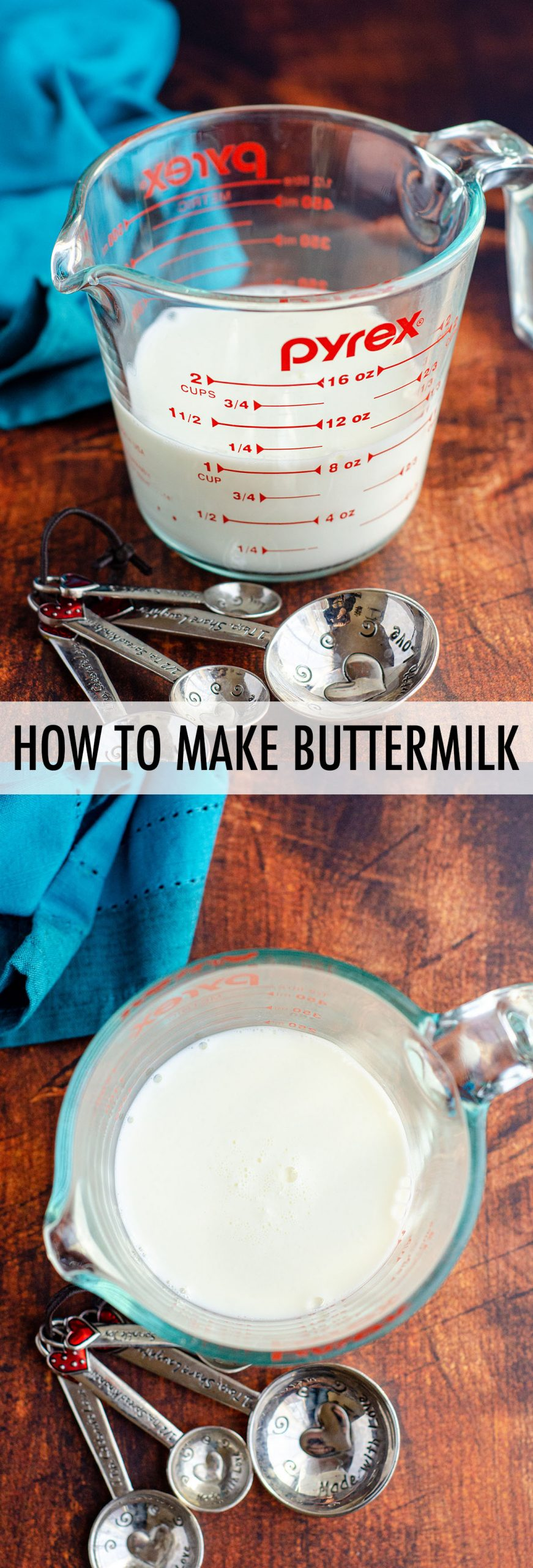 Learn how to make buttermilk in your own kitchen-- you only need 2 ingredients!