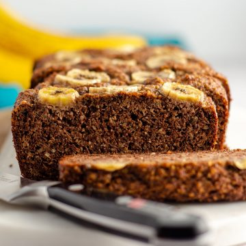 Almond Flour Banana Bread: Moist and flavorful banana bread made entirely with almond flour for a naturally gluten free quick bread.