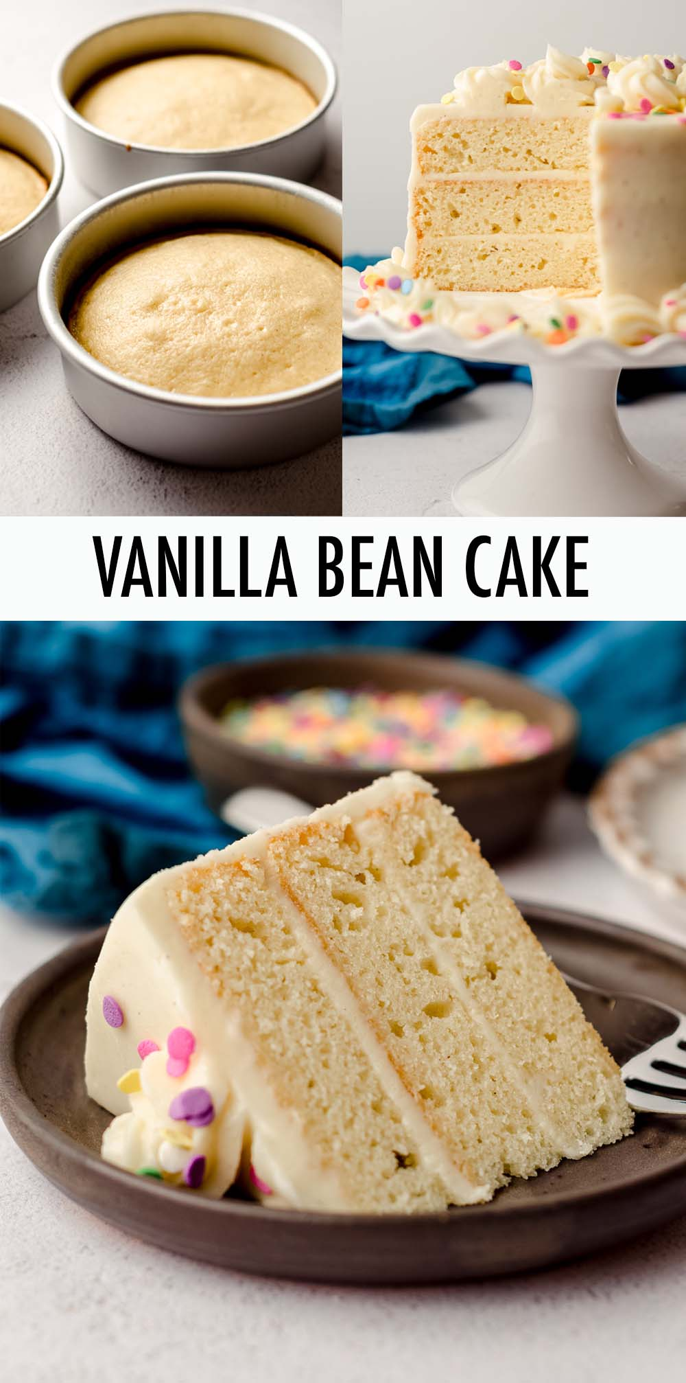 Learn how to make a two or three layer 6 inch cake from any of your favorite cupcake or 8 inch cake recipes, including this 6 inch vanilla bean cake recipe. This size cake is perfect for small gatherings and smash cakes for 1st birthdays.