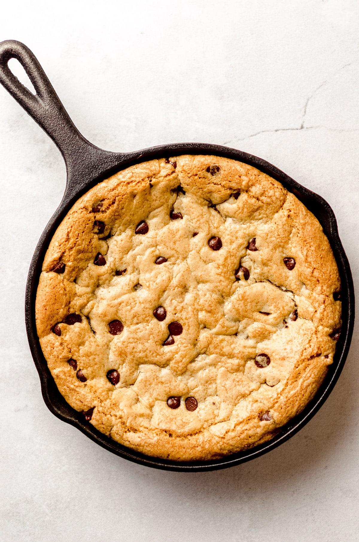 aerial photo of nutella cookie cake