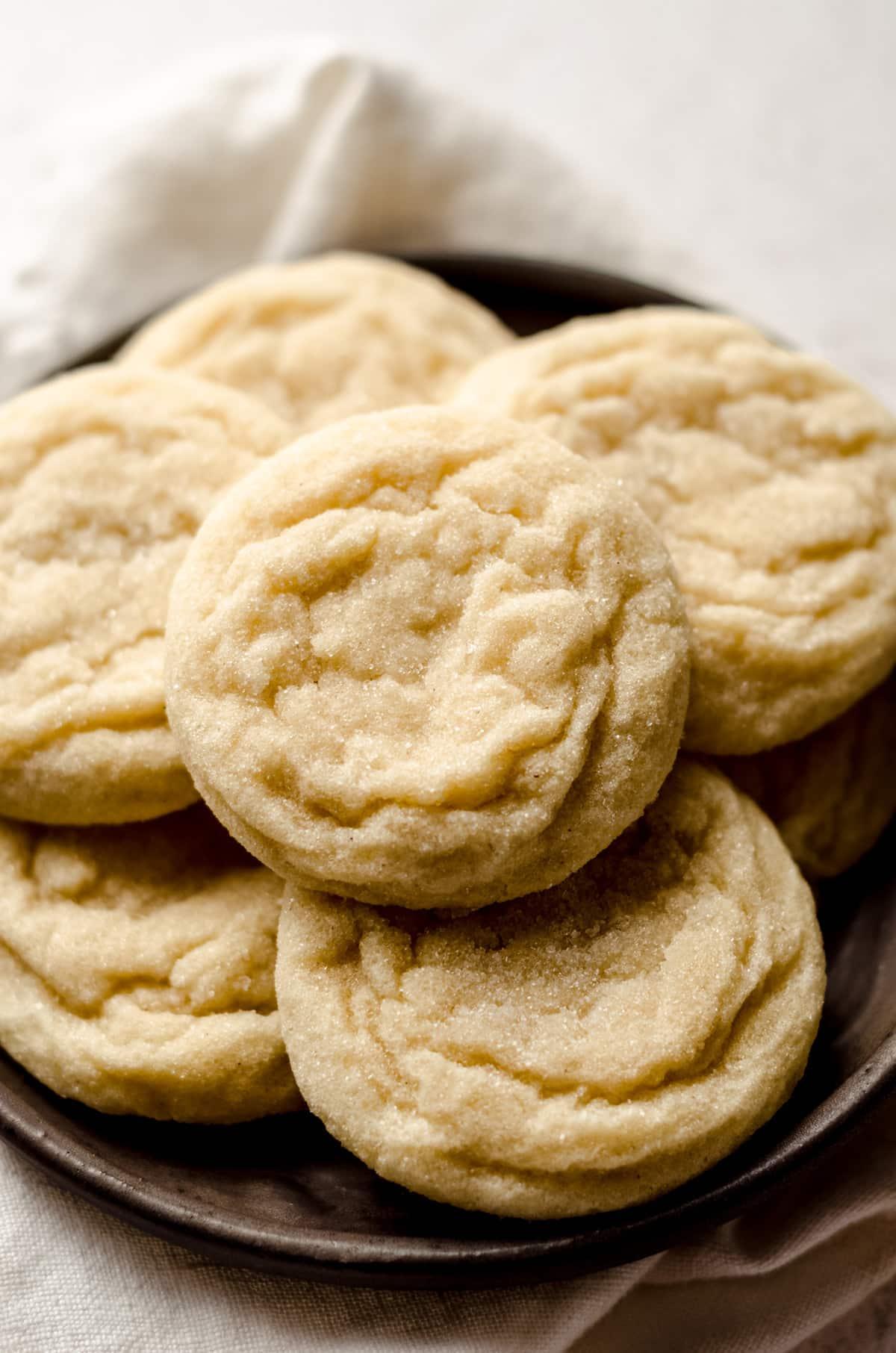 vanilla bean sugar cookies on a plate