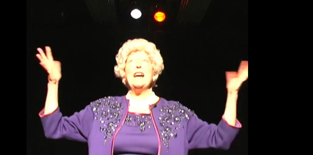 Martha Wilson as Barbara Bush