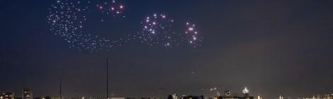 Studio Drift Drones Swarm an Ode to Apollo at 50