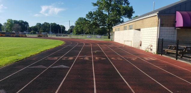A high school track in Madison Heights, Michigan