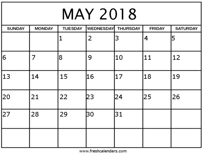 weekly calendar template may 2018 save template