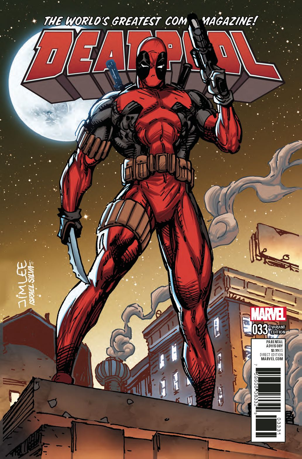 Deadpool 33 X Men Card Cover Fresh Comics
